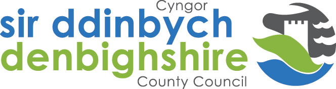 Iconic Temporary Tensile Fabric Structure - Denbighshire County Council Logo